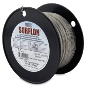 Surflon Size 4 - 60-Pound Break 1000-Feet Crimping Picture Wire Nylon Coated Stainless Steel, Bright