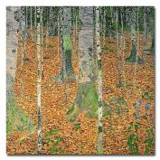 Trademark Fine Art The Birch Wood by Gustav Klimt Canvas Wall Art