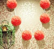 15cm Tissue Pom Pom Garland - Roseate