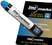 IMC Marks Weather Resistant Lead Free Industrial No. 1x Solid Stick Paint Marker, Blue