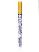 Marvy Uchida Calligraphy Paint Markers metallic gold [PACK OF 6 ]