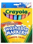 . Washable Markers -- Tropical Colours box of 8 [PACK OF 4 ]