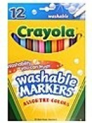 . Washable Markers -- Assorted Colours fine line [PACK OF 3 ]