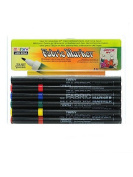 Marvy Uchida Fabric Markers Sets primary set of 6 [PACK OF 2 ]
