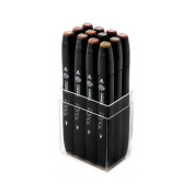 ShinHan Touch Twin Marker Set 12 Wood