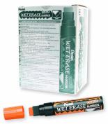 Pentel Arts Wet Erase Chalk Marker, Jumbo Tip, Orange Ink, Box of 12