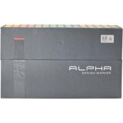 Alpha EF 60 Grafikmarker 60er Set A Box Design Marker