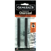 General Compressed Charcoal Stick 4B 2/Pk