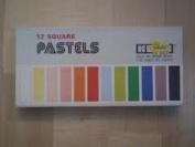 12 colour Koss Artist's Soft Pastels