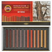 Koh-i-noor Toison D'or - 12 Square Soft Pastels - Special Shades. 8592B