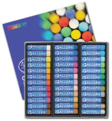 Mungyo Gallery Oil Pastels Semi Jumbo Set of 36 70mm X 17mm Assorted Colours