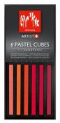 Caran D'ache Pastel Cube Set/6 Red Berries