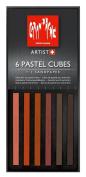 Caran D'ache Pastel Cube Set/6 Scorched Earth