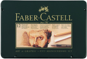 Faber-Castell Pitt Monochrome Pastel Set of 12