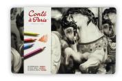 Conté à Paris Pastel Pencils with 24 Assorted Colours
