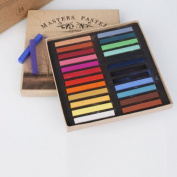 Artists Long Soft Pastels 24 Colours Set AP Non-toxic Square Chalk bright