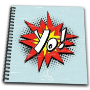 Dooni Designs Comic Book Style Designs - Yo Hipster Geek Comic Book Style Exclamation Expression Cartoon Graphic - Drawing Book