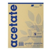 Grafix Clear-Lay Acetate Alternative 28cm . x 36cm . .003 thick pad of 25