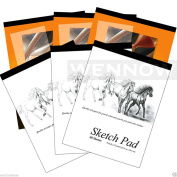 Wennow 6 Pcs Tracing Paper Pad 30 Sheets + Sketch Book Paper Pad 30 Sheets & 40 Sheets