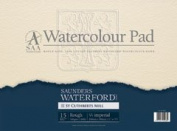 SAA Saunders Waterford Pad, 300gsm, Quarter Imperial, Rough