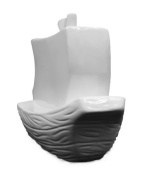 Ceramic Ready To Paint Pirate Ship Birdhouse by Plaid