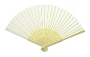 Blank Japanese Folding Fan (Sensu) for Drawing or Painting