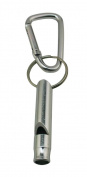 Yongshida Aluminium Whistle with Key Ring and Carabiner Colour Silvery Pack of 8