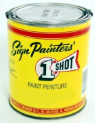 1-Shot Lettering Enamel lettering white quart can