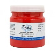 Tri-Art High Viscosity Paint, 250ml, Medium Naphthol Red