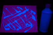 470ml Blue Blacklight Reactive Fluorescent Tempera Paint