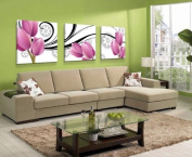 ASIA MODERN ABSTRACT WALL ART PAINTING ON CANVAS NEW Style ! (NO FRAME?with The purple tulip growth