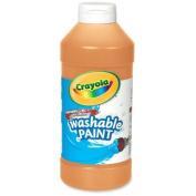 Wholesale CASE of 25. Washable Paints. Washable Paint, Squeeze Bottle, 470ml, Orange