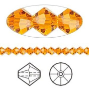 . Crystal 5328 4mm XILION Sun (Orange) Bicones - 48 Pack