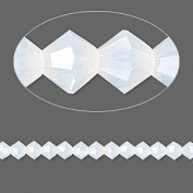 . Crystal 5328 4mm XILION White Opal Bicones - 48 Pack