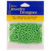 """6/0 Glass """"E"""" Beads, Green, 20 Gramme Pkg"""