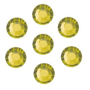 50pcs size ss20 (4.7mm) Olivine Preciosa MC 12-facet Iron-on ChatonRoses