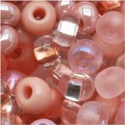 """Czech Seed Beads 15cm Rose Garden"""" Pink Mix Lot"""