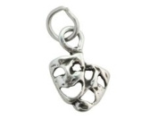 Sterling Silver Charm Comedy Tragedy
