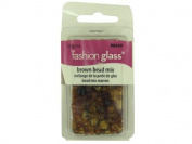 Brown Glass Bead Mix 28 Grammes