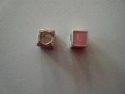 "Pandora Style Pink Letter ""L"" Bead Charm"