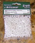 Satin Beads White 6 Mm 30 Grammes Arts & Crafts