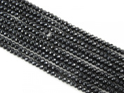 Glass Crystal Faceted Rondelle Finding Spacer Beads 2.5x3.5mm 140pcs Black Colour 16''per Strand