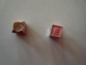 "Pandora Style Pink Letter ""E"" Bead Charm"