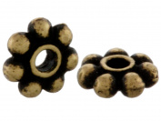 Pack of 50 TierraCast® Pewter Oxidised Brass 4mm Daisy Spacer Beads