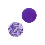 Lillypilly Aluminium Circle Stamping Purple W/Zebra Print 16mm