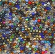 400 Czech Druk Round Firepolish Small 4mm MIX Glass Beads