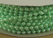 3mm Faux Pearl Plastic Beads on a String Craft Roll Mint Green