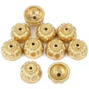 Bali Bead End Caps Gold Plated Beads 9.5mm Approx 10