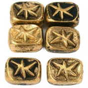 15g Star Rectangle Beads Antq Gold Plated 11mm Approx 6