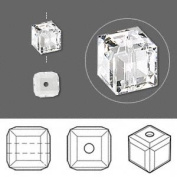 . Crystal 5601 6mm XILION Clear Cubes - 6 Pack